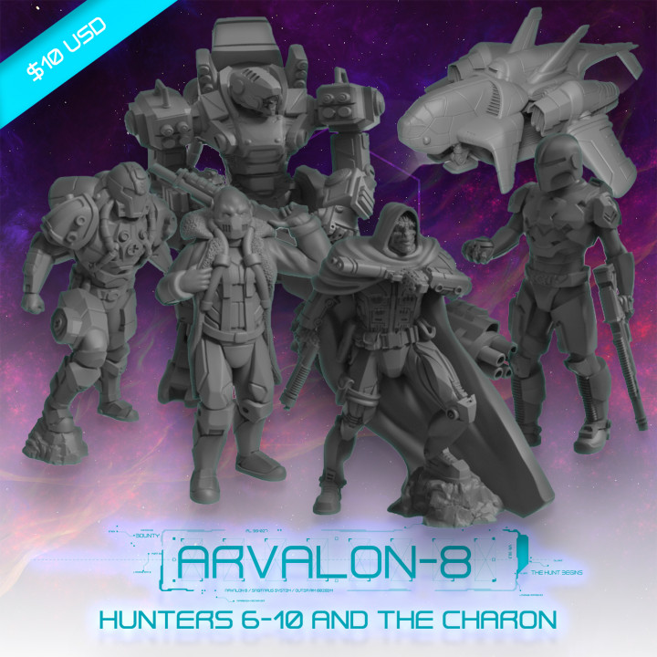 Arvalon-8 Cyphrons' Crew and the Charon Dropship's Cover