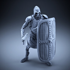 Skeleton - Heavy Infantry - Sword + Square Shield - Idle Pose