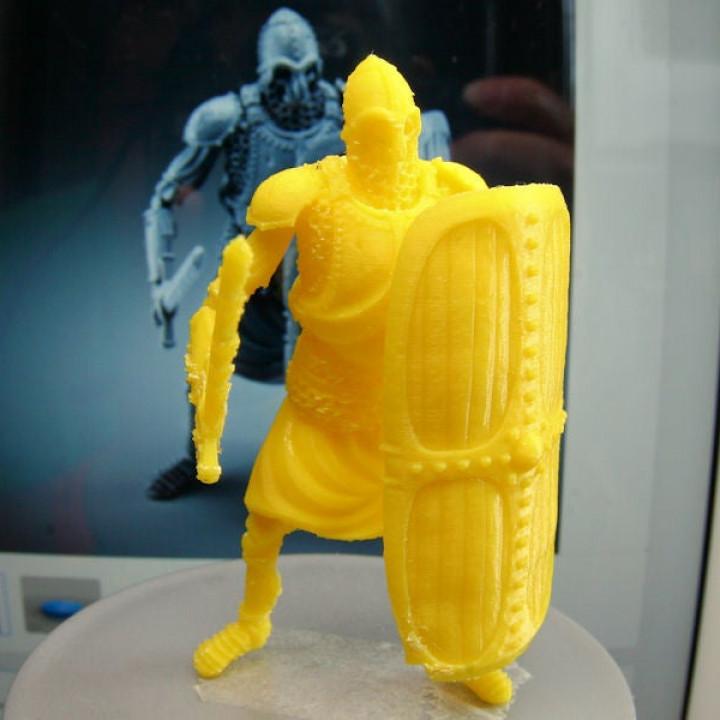 Skeleton - Heavy Infantry - Sword + Square Shield - Idle Pose