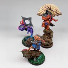 Picture of print of Hanarin, Hanzaki Salamander Ninja (Fan) (Pre-Supported)