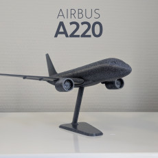 Airbus A220-100 - Modern Jet Airplane - 1:144