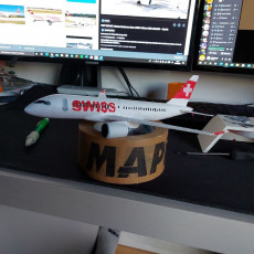 Picture of print of Airbus A220-100 - Modern Jet Airplane - 1:144