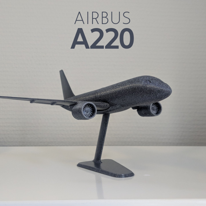 Airbus A220-100 - Modern Jet Airplane - 1:144