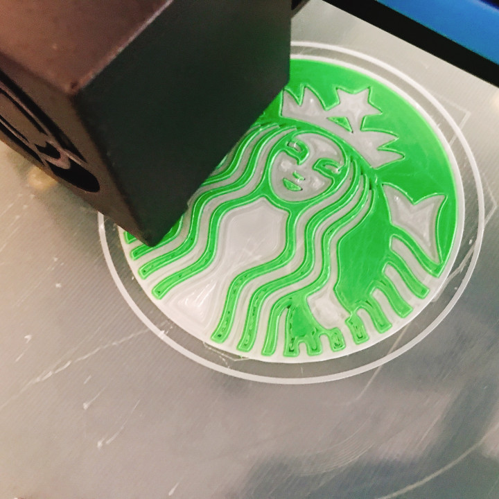 Smooth One Nozzle Two Colors Inlay 3D Print