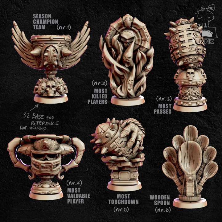 Blood Bowl Trophies or Marker