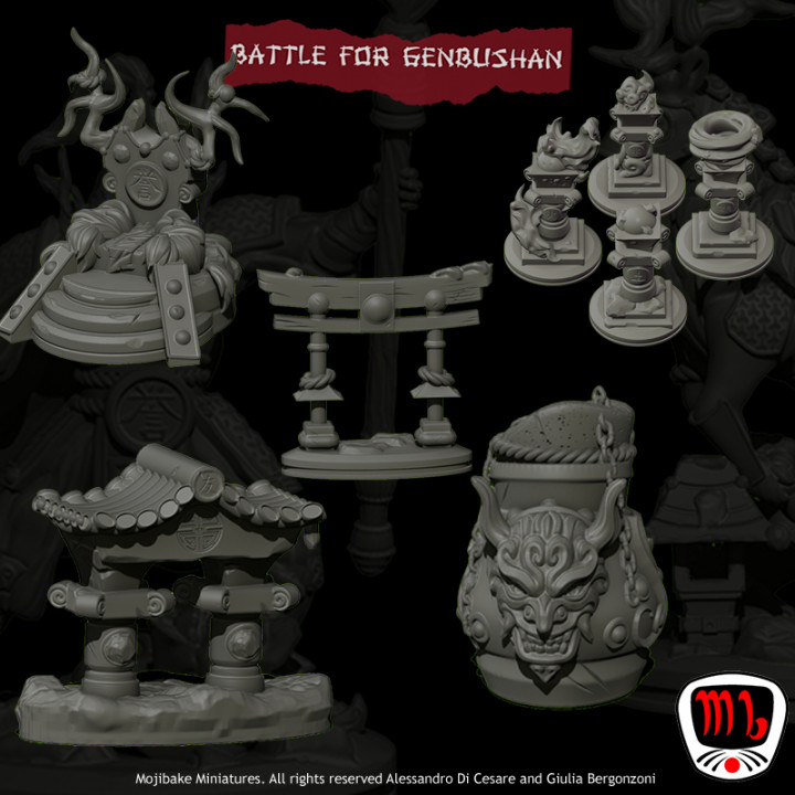 Battle for Genbushan Terrains & props ONLY UPDATED's Cover