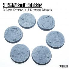 40mm Wasteland Bases