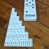 3D Printed Dominoes Set with Large Domino Carrying Case image