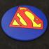 Round Superman Logo Coaster image