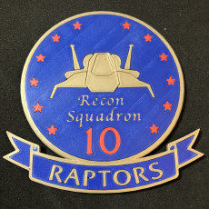 Battlestar Galactica Raptor Recon Squadron Patch Coaster