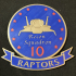 Battlestar Galactica Raptor Recon Squadron Patch Coaster image