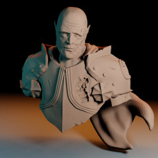 I will serve, even in death. Knight bust