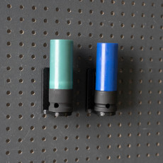 Universal Wall Holder for 1/2 inch sockets 044 I for screws or peg board