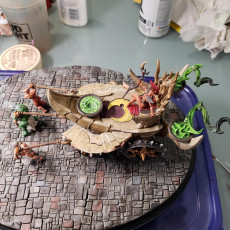 Picture of print of Soul-Harvester Altar & Modular Slaves - Ashen Alfar Inquisitors Terrain Piece