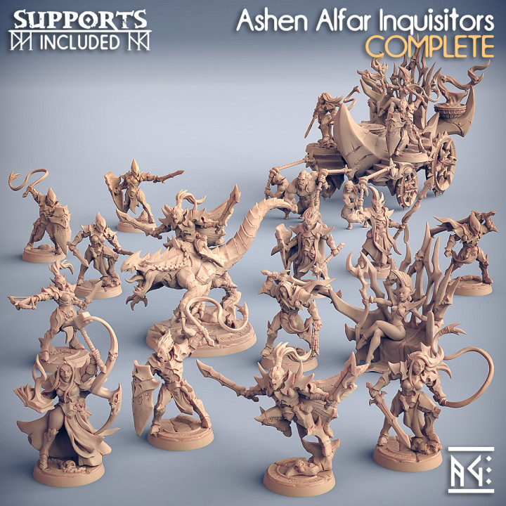 COMPLETE Ashen Alfar Inquisitors (Presupported)