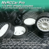 MyRCCar WRC Wheels 1/10 Complete, 5 Rims, 4 tires On-Road RC Car Wheels image