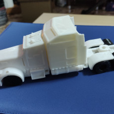 Picture of print of Kenworth W900 Step Sleeper 1/64 scale