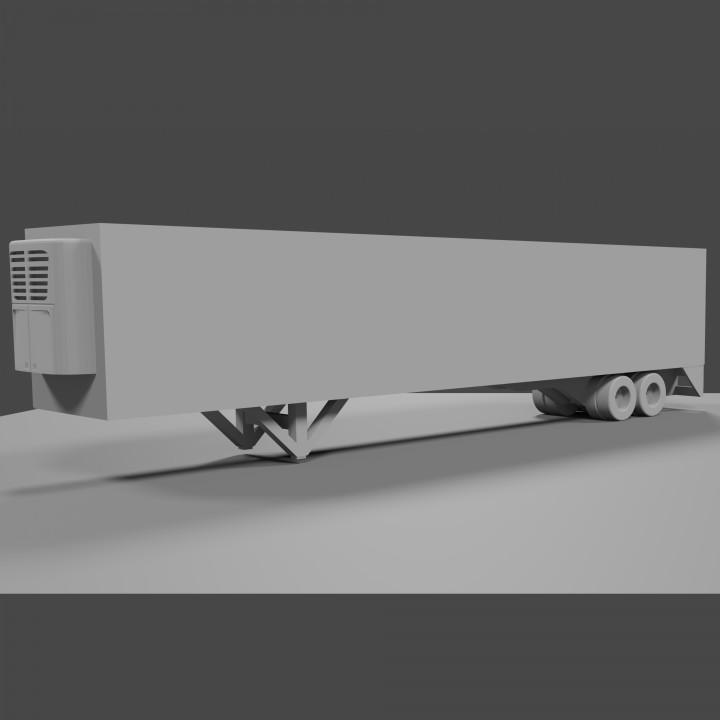 Van Semi Trailer 1/64 scale