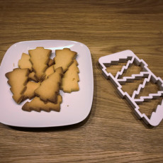 Christmas Tree Cookie Cutter (five at once)