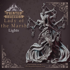 Lady of the Marsh Lights - Boss Monster - 32mm model
