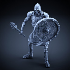 Skeleton - Heavy Infantry - Spear + Round Shield - Idle Pose