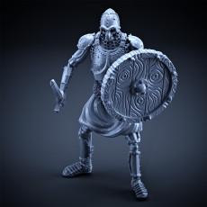 Skeleton - Heavy Infantry - Sword + Round Shield - Idle Pose