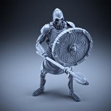 Skeleton - Heavy Infantry - Spear + Round Shield - Defensive Pose