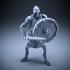 Skeleton - Heavy Infantry - Sword + Round Shield - Defensive Pose image