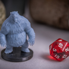 Picture of print of Grizzly Bear Miniature - pre-supported