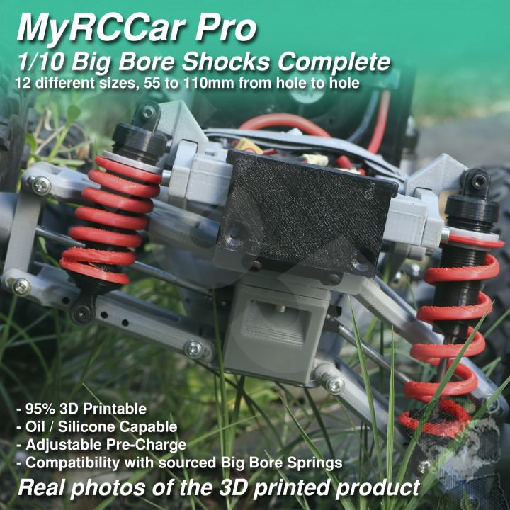 MyRCCar 1/10 Big Bore Shocks Complete, 55-110mm 12 different sizes RC Car Shocks