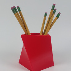 twisted square pencil holder