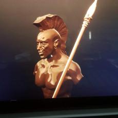 Native American warrior torso