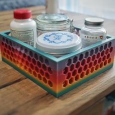 Honeycomb Box Tray Table Organizer!