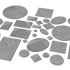 Round, oval, square, rectangular, hexagonal, industrial textured bases x1000 image