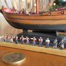 Sailors and Officers to Crew Model Ships 1750-1820