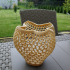 Strawberry-like voronoi style vase image