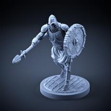 Skeleton - Heavy Infantry - Spear + Round Shield - Attacking Pose