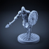 Skeleton - Heavy Infantry - Spear + Round Shield - Attacking Pose image