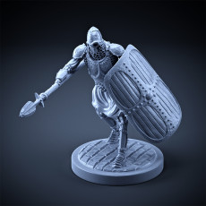 Skeleton - Heavy Infantry - Spear + Square Shield - Attacking Pose