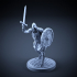 Skeleton - Heavy Infantry - Sword + Round Shield - Attacking Pose image