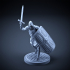 Skeleton - Heavy Infantry - Sword + Square Shield - Attacking Pose image