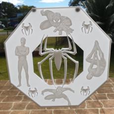 Spiderman Lithophane Window Art
