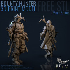 230x230 free stl template bounty hunter square