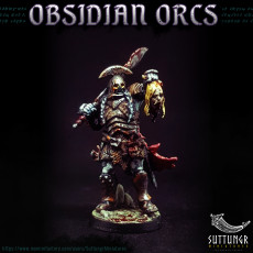 Picture of print of The Obsidian Orc Warband - Pre-Supported