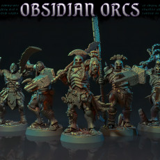 The Obsidian Orc Warband - Pre-Supported