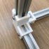 A 3-way corner bracket for 2020 aluminum extrusion image