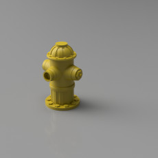 Fire Hydrant model prop for Diorama and Tabletop games