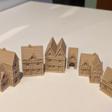 Wee Burgh Medieval Town or City (timberframe set01)