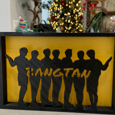 Picture of print of BTS silhouette ornament