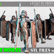 Cursed legionnaire marching - LEGIO IX HISPANA - Courtesy model